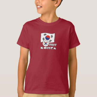 Republic of Korea (South) Soccer Ball and Flag T-Shirt