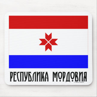 Republic of Mordovia Flag Mouse Mat