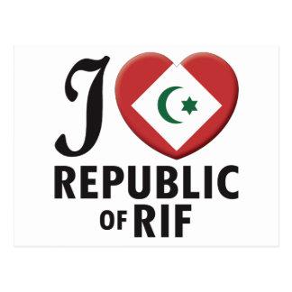 Republic of Rif Love Postcard