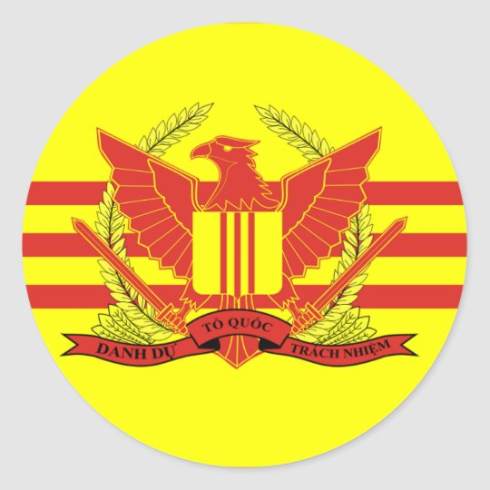 Republic of South Vietnam Military Forces Flag Classic Round Sticker