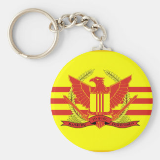 Republic of South Vietnam Military Forces Flag Key Ring
