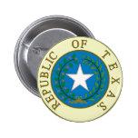 Republic of Texas 6 Cm Round Badge