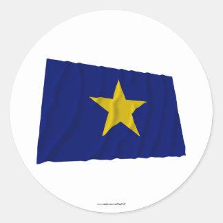 Republic of Texas Flag Round Sticker