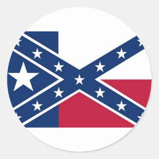 Republic of Texas Flag Round Stickers