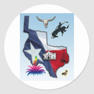 Republic of Texas Round Stickers