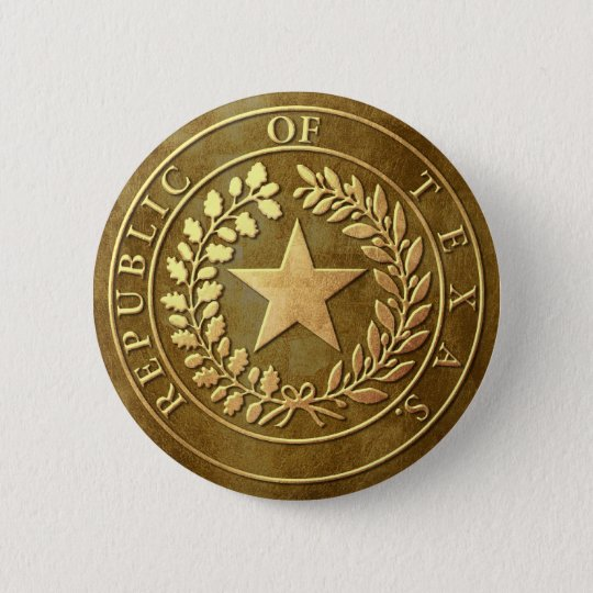 Republic of Texas Seal 6 Cm Round Badge