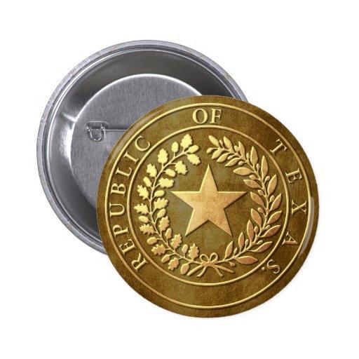 Republic of Texas Seal 6 Cm Round Badge