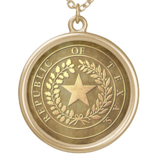 Republic of Texas Seal Round Pendant Necklace
