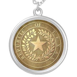 Republic of Texas Seal Round Pendant Necklace
