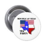 Republic of Texas Tea Party Pinback Button