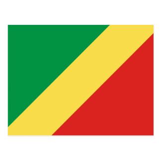 Republic of the Congo Flag Postcard