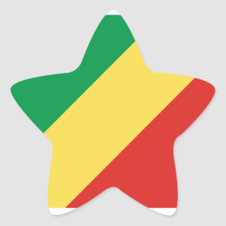 Republic Of The Congo Flag Star Sticker