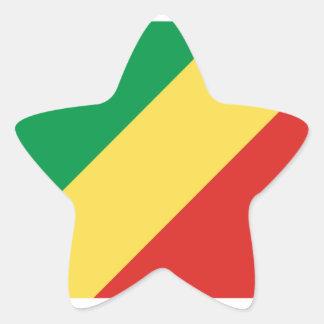 Republic Of The Congo Flag Star Sticker