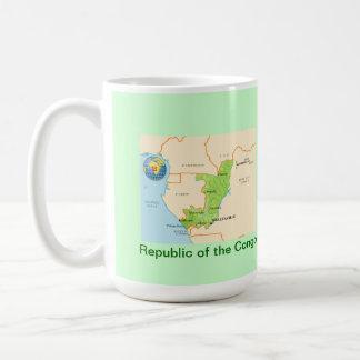 Republic of the Congo map & flag Coffee Mug