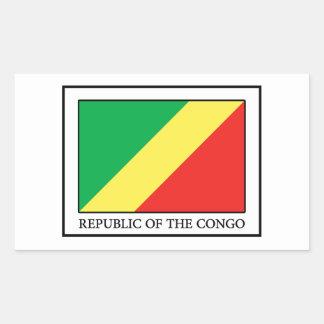 Republic of the Congo Rectangular Sticker