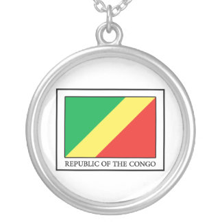 Republic of the Congo Silver Plated Necklace