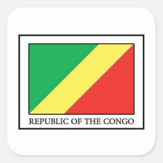 Republic of the Congo Square Sticker