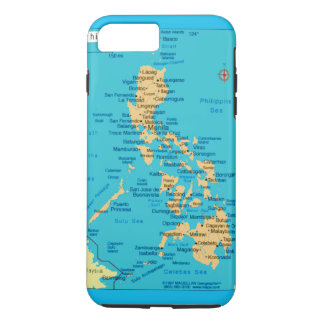 Republic of the Philippines Map, iPhone 7  Case