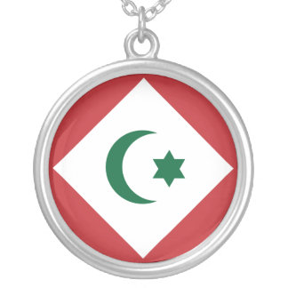 Republic Of The Rif, Morocco flag Round Pendant Necklace