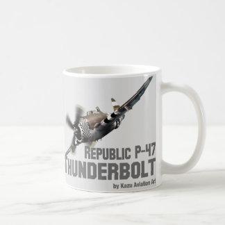 Republic P-47 Thunderbolt thunderbolt Basic White Mug