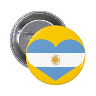 Republica Argentina heart 6 Cm Round Badge