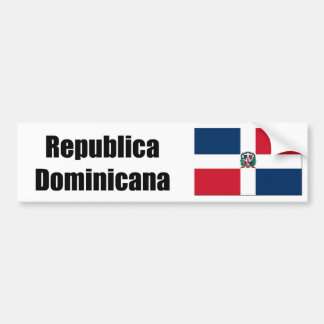 Republica Domincana D.R> flag Bumper Sticker