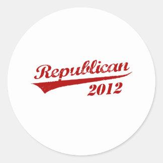 REPUBLICAN 2012 JERSEY ROUND STICKERS