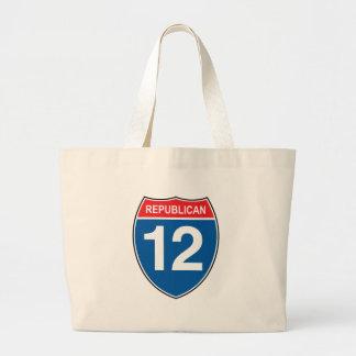 Republican 2012 jumbo tote bag