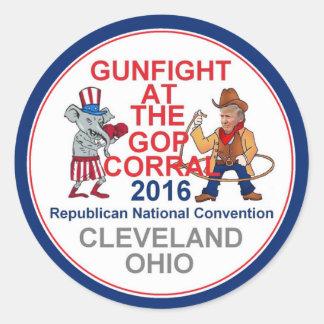 Republican 2016 Convention Round Sticker