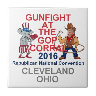 Republican 2016 Convention Small Square Tile