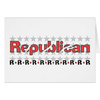 Republican Abstract Greeting Card