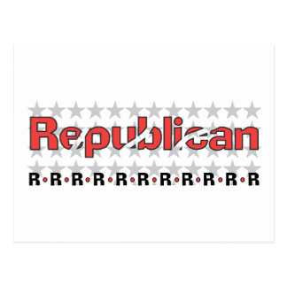 Republican Abstract Postcard