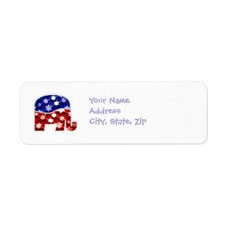 Republican Address Return Labels