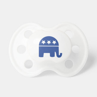 Republican Baby Elephant Baby Pacifiers