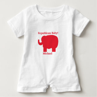 Republican Baby Red Elephant Name Personalized T-shirt