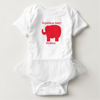 Republican Baby Red Elephant Name Personalized Tshirts