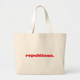 republican. tote bags