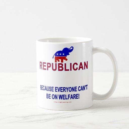 Republican because... basic white mug
