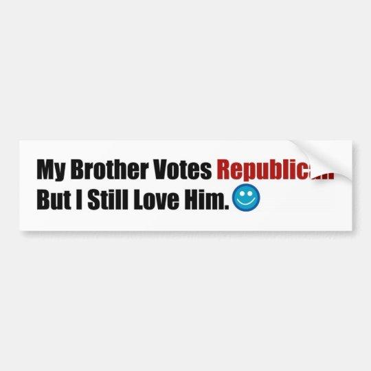 Republican Brother Bumper Sticker