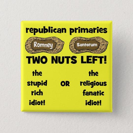 republican candidates 15 cm square badge