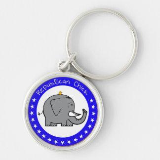 republican chick keychain