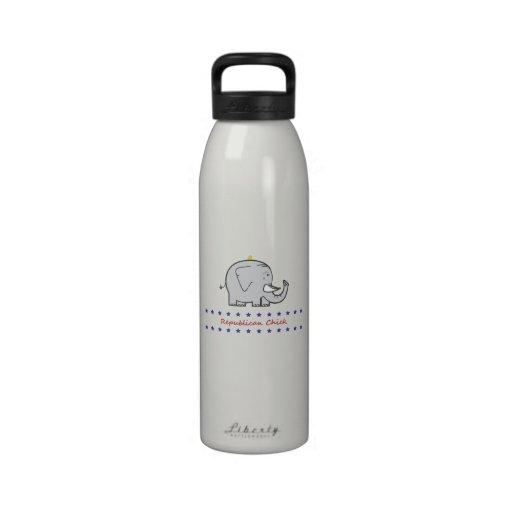 republican chick water bottle