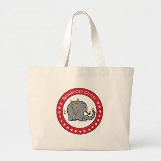 republican chicks tote bags