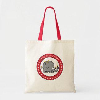 republican chicks tote bag