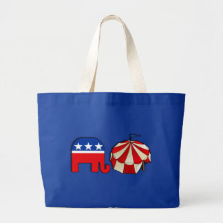 Republican Circus Elephant and Tent Jumbo Tote Bag