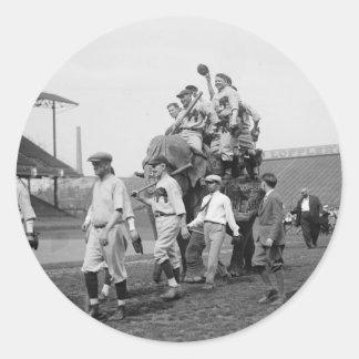 Republican Congressional Baseball Team in 1926 Round Stickers