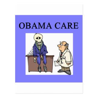 republican conservative anti obama joke postcard