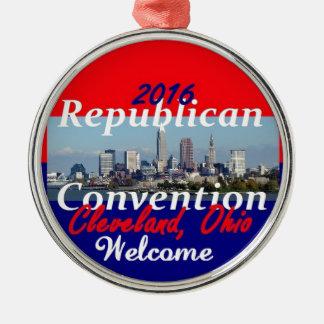 Republican Convention 2016 Silver-Colored Round Decoration