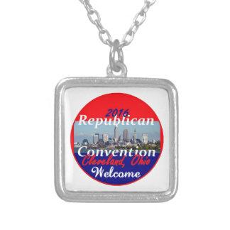 Republican Convention 2016 Square Pendant Necklace