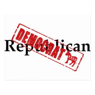 Republican: DEMOCRAT Postcard